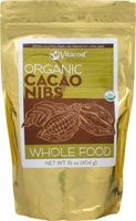 Vitacost Whole Food Organic Cacao Nibs Chocolate - Non-GMO