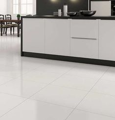 Extreme white polished porcelain 600x600 floor tile. Bright white colour and rectified edges at the best online price from Total Tiles.