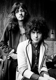 Marc Bolan and Steve Peregrin of Tyrannosaurus-Rex, 1969. Photo by Chris Walter. S)