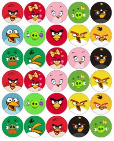 ANGRY-BIRD-FACES-V2-EDIBLE-WAFER-PAPER-TOPPERS-CUPCAKES-MUFFINS-CAKE-POPS