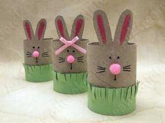 Toilet paper roll easter bunnies - Húsvéti nyuszik WC papír gurigából