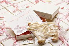 cute birthday invitation & cookie