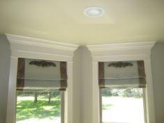 window and door trims using crown molding