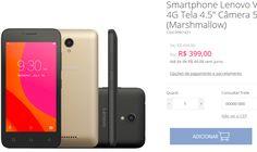 """Smartphone Lenovo Vibe B 8GB 4G Tela 4.5"""" Câmera 5MP Android 6.0 << R$ 35112 em 8 vezes >>"""