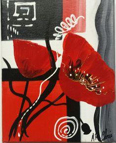 Peinture acrylique sur toile 19x24 Artiste : Raffin Christine