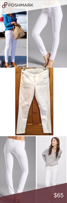 """Citizens of Humanity Avedon Ankle Skinny Jean EUC Summer ready! Awesome white jeans from premium denim brand, Citizens of Humanity! A celebrity favorite for sure and these are in excellent conditiin! Waist:14"""" Inseam:29"""" Rise:8"""" Citizens Of Humanity Jeans Skinny"""