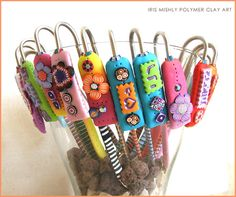 Polymer Clay Bookmarks by Iris Mishly, via Flickr