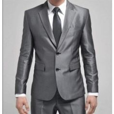 Shinny Grey Wedding Suit For Man