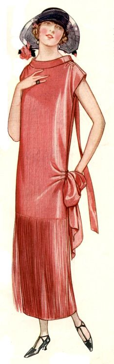Another #1920s dress in red. This one is from 1924. In a black and white photograph the red would have appeared as black. #vintagefashion #fashion