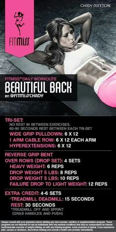 FitMiss Back workout