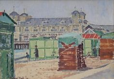 """Clifford Hall """"Southsea Pier"""" 1934, oil on panel, 10"""" x 14""""."""