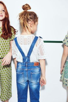 pattern shirt with overalls and cute bun