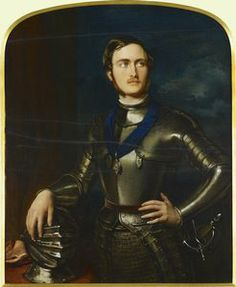 A lovely portrait of Prince Albert given as a gift to Queen Victoria in 1844.