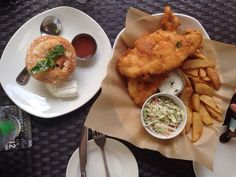 Fado Irish Pub- rhubarb pie and full portion of fish and chips | Yelp