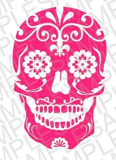 Sugar Skull SVG DXF and JPEG Digital by MissAddisonsCloset on Etsy