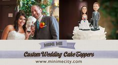 Custom Wedding Cake Toppers made from your photo! Custom Wedding Cake Toppers made from your photos! Wedding idea, Caketopper, funny wedding cake toppers, personalised wedding cake topper, personalized cake toppers, cake tops, wedding cake figurines, cake topper ideas.