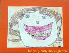 The Very Busy Kindergarten: My Favorite Art Project (beans for the teeth)