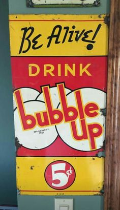 Bubble Up Soda Tin Sign
