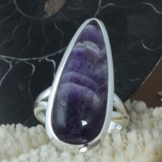 EXCLUSIVE 925 SOLID STERLING SILVER Amethyst Lace Agate RING 7.24g R9679 SZ-8 #Handmade #Ring