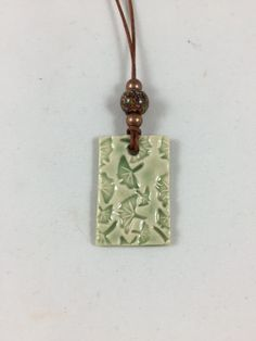 Ceramic Pendant Necklace Pendant Hand Built by PotterybyNoell