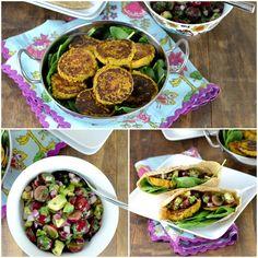 Butternut Squash & Chickpea Patties with Grape-Avocado Salsa