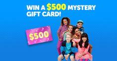 Win a $500 mystery gift card 4 Kidz Bop tickets and Kidz Bop... IFTTT reddit giveaways freebies contests