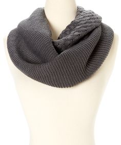 Look at this #zulilyfind! Deep Gray Multi-Knit Infinity Scarf by modern centers trade #zulilyfinds