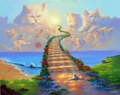 "Limited Edition Prints: 18×24 24×30 30×40 After painting ""All Dogs Go to Heaven"" some people asked if I had one for cats, which I realized then that being a cat..."
