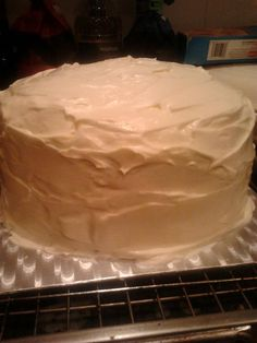 Carrot cake with cream cheese buttercream, made for pop up café at bn1creative in Brighton.