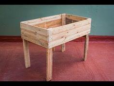 Mesa de cultivo con palets - Timelapse - YouTube
