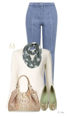 """""""Scarf Season"""" by ksims-1 ❤ liked on Polyvore featuring Unique, Chloé, Tory Burch and Brahmin"""