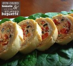 Sun-Dried Tomato & Olive Stuffed Baguette