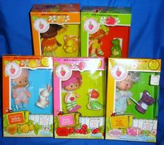 Vintage Strawberry Shortcake Doll Lot Orange Angel Cherry Apricot Apple Pets Box