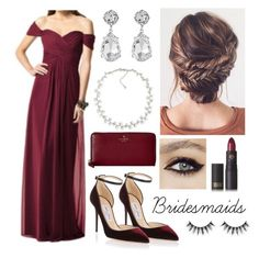 """""""Bridesmaids"""" by savvy-style13 ❤ liked on Polyvore featuring Jimmy Choo, Carolee, Kenneth Jay Lane, Kate Spade, Lipstick Queen and Sephora Collection"""