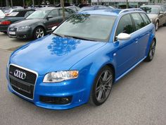 The Audi RS 4 Blue quattro is the top tier and highest performing version of some specific generations of the Audi A4 range of automobiles. It is a sports-focused compact executive car (often called sport compact in some countries), produced by Audi's high-performance private subsidiary quattro GmbH, in limited numbers, for German car manufacturer AUDI AG, part of the larger Volkswagen Group