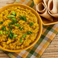 Recipe for Indian-Style Red Lentils with Ginger (Red Lentil Dal) from Kalyn's Kitchen