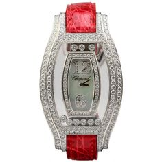 Chopard White Gold Happy Diamonds Quartz Wristwatch Ref 4528 1 | From a unique collection of vintage wrist watches at https://www.1stdibs.com/jewelry/watches/wrist-watches/
