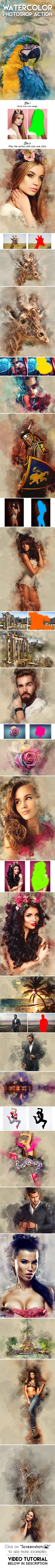 Watercolor Photoshop Action — Photoshop ABR #watercolor #drawing • Download ? https://graphicriver.net/item/watercolor-photoshop-action/18998392?ref=pxcr