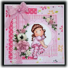 Cute pink girl card to give to your little angel! FQB - Super Meewee Collection from Nitwit Collections™