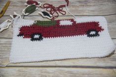 Free Crochet Pattern For The Vintage Red Christmas Truck Vintage Crochet Patterns, Loom Knitting Patterns, Knitting Tutorials, Stitch Patterns, Free Knitting, Vogue Knitting, Crocheting Patterns, Blanket Patterns, Hat Patterns