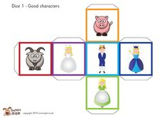 Fairy tale story telling dice (with words) Ks2 Classroom, Classroom Displays, Primary Teaching, Teaching Time, Teaching Language Arts, Language Activities, Fairy Tale Crafts, Fairy Tale Activities, Drama Education