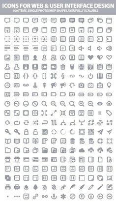 300 Beautiful Icons For Web and User Interface Designers | Icons | Graphic Design Junction