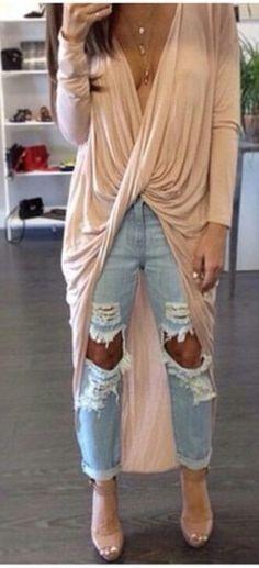 Twist cross long sleeve top