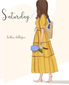 Summer Saturday's are the best days. Hello Weekend, Hello Saturday, Sunday, Collage, Fashion Art, Fashion Design, Women Lifestyle, Girl Cartoon, Boss Babe