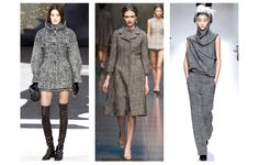Tweed  From left to right: Chanel, Dolce & Gabbana and Haider Ackermann Also seen at Lanvin, Emanuel Ungaro, Rag & Bone