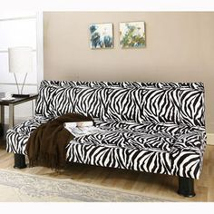 So fun! Zebra Convertible Sofa $194