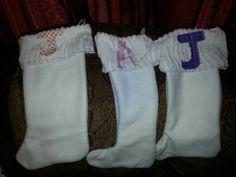 Christmas stockings I made.