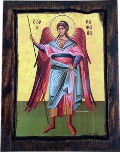 Archangel Raphael Orthodox Byzantine icon on by ReligiousIcons