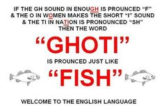 The wonders of the English language…