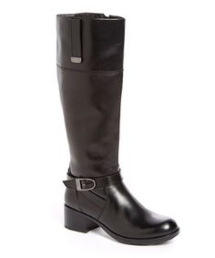Look what I found on #zulily! Black Baya Wide-Calf Leather Boot #zulilyfinds